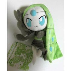 Pokemon Center 2012 Meloetta Aria Forme Lottery Prize Plush Toy NOT FOR SALE IN STORES