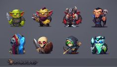 Dungerous on Behance 2d Character, Game Character Design, Character Design Inspiration, Character Concept, Game Design, Concept Art, Cute Characters, Fantasy Characters, Design Alien