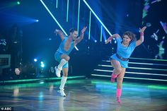 Jazz dance:Justina Machado, 48, opened the show with a spirited jazz dance with pro partner Sasha Farber, 36, to Maniac made famous in the 1983 film Flashdance