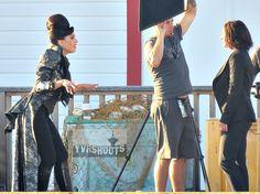 ONCE UPON A TIME Season 6's Evil Queen (Lana Parrilla) Versus Regina on Steveston Docks