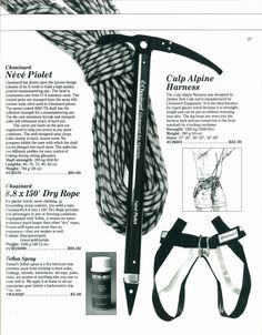 From the 1984-1985 Great Pacific Ironworks Backcountry Catalog, Page 37.