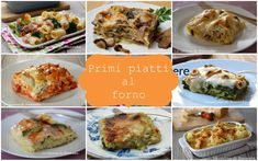 Primi piatti al forno   Raccolta di ricette