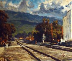 Waiting on the Tequila Express by Thomas Van Stein, oil painting.