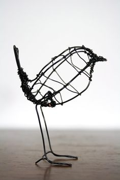A lovely little life size metal wire sculpture of a Wren. Hand made by myself with my hands and a trusty pair of pliers. Standing at around 8cm