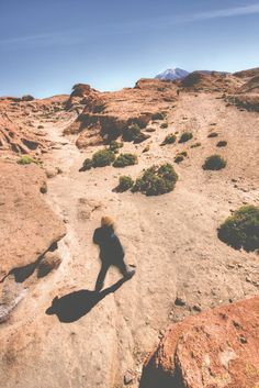 Walking through the Valle de Rocas on the third day of a tour of a four day tour of the Uyuni Salt Flats in Bolivia. Our blog post photographically describes the journey and showcases all the beautiful landscapes on offer.