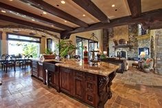 Wood Beam Ceilings Design Ideas, Pictures, Remodel, and Decor - page 3