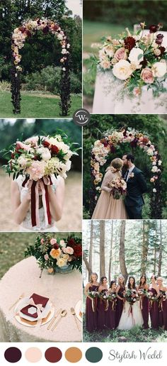 Wedding Trends: 10 Fantastic Burgundy Color Combos for 2017 burgundy and blush fall and autumn wedding colors ideas Burgundy Wedding Colors, Fall Wedding Colors, Burgundy Color, Blush Fall Wedding, October Wedding Colors, Burgundy Bridesmaid, Color Palette For Wedding, Wedding Color Schemes Fall Rustic, Bridesmaid Dresses