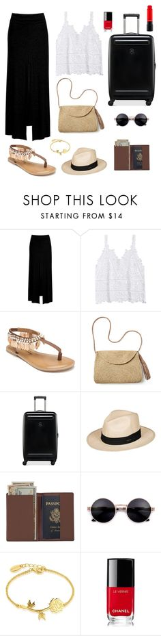 """Untitled #218"" by amaliaut ❤ liked on Polyvore featuring Sans Souci, Penny Loves Kenny, Mar y Sol, Victorinox Swiss Army, Roxy, Royce Leather, Disney and Chanel"