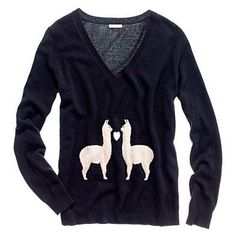 two Lamas.hehehe I you Pedro Miguel Lama :) Pretty Outfits, Cute Outfits, Sexy Outfits, Do It Yourself Fashion, Vogue, Sweater Shirt, Grandpa Sweater, Ugly Christmas Sweater, Sweater Weather