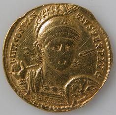 Solidus of Constantius II (Sole Emperor, 353–361) | Byzantine | The Met
