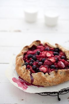 berry and hazelnut tart  {Cannelle et Vanille: Simple suppers for Coastal Living magazine}