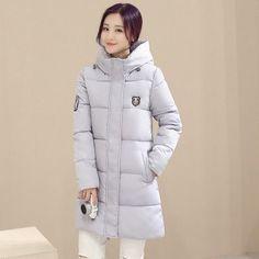 Winter Women's Fashion Down Warm Coats New Arrival Fashion Long sleeve Hooded Jackets Slim Style Casual Parka Coat M0510
