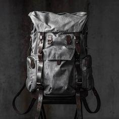 COMMANDER BACKPACK (vintage grey) - WOTANCRAFT