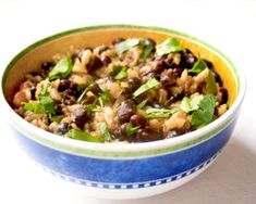 Brazilian Brown Rice and Black Beans - pressure cooker
