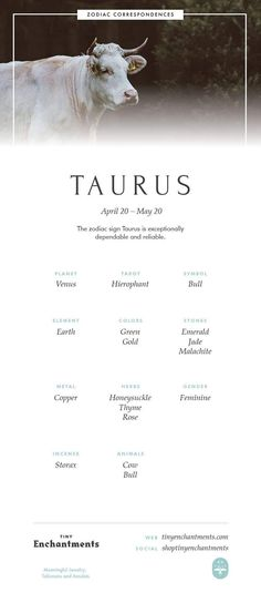 Taurus Zodiac Sign Correspondences - Taurus Personality, Taurus Symbol, Taurus Mythology and Taurus Meaning Full Infographic: zodiac, astrology, horos Taurus Symbols, Astrology Taurus, Astrology And Horoscopes, Zodiac Signs Taurus, Taurus Facts, Zodiac Star Signs, Zodiac Horoscope, Astrology Numerology, Taurus And Gemini