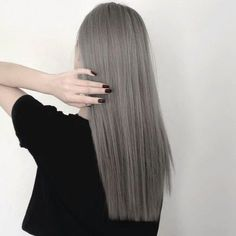 grafika hair, grey, and black