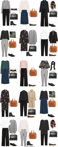 Starter Work Capsule Outfit Options 16-30 via livelovesara