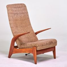 Swedish reclining lounge chair, 1960s