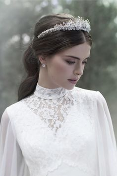 "Headpiece from Viktoria Novak ""The Evocative Prequel"" Collection 