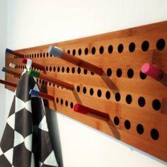 Coat Hanger, Wooden Coat Hanger, by Danish WeDoWood, Scoreboard Horizontal, £ 175.00, also available Vertical.
