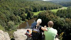 Blick auf die Thaya vom Umlaufberg, © Waldviertel Tourismus, Robert Herbst Kanken Backpack, Backpacks, Tourism, National Forest, Woods, Fall, Women's Backpack, Backpack