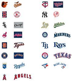 Krafty Nook: MLB - American Baseball League SVG Files