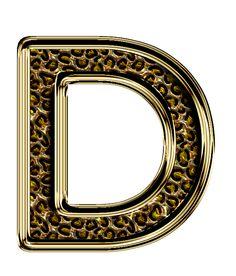 Alpha Letter, Letter D, Letter Board, Cute Alphabet, Alphabet And Numbers, Leopard Party, Stylish Alphabets, Gold Letters, Scrap