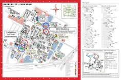 University of Houston campus map University Of Houston Campus, Houston Map, Campus Map, Engineering, Classroom, English, Science, Class Room, English Language