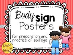 Solfége and hand signs are an amazing way to teach aural skills and music literacy. Many teachers also use body signs. Body signs are a great gross motor, kinesthetic tool to use with students for listening, decoding and teaching new melodic elements. It engages the whole body and helps improve engagement.  In this colorful set you will receive 8 different colored sets that you can coordinate with standard classroom instruments. #Kodály #elmused #melody #elementarymusic