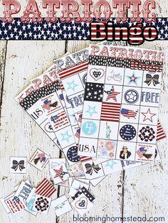 Patriotic 4th of July Bingo