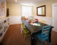 mix and match chairs with large table