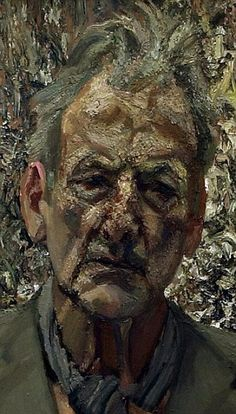 A painting, entitled 'Self Portrait, Reflection', by Lucien Freud