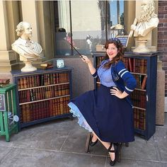 """The lovely @radgeekyrose is showing off her Wizarding skills as """"Pinup Ravenclaw"""" with her Malco petti and we think she looks fab! ⚡️"""