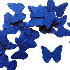 Royal Blue Butterfly Shaped Plantable Seed Paper Confetti from Daisy Giggles.
