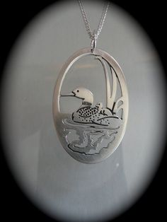 Loon jewelry handmade animal totem loon bird  by MoonHeartStudios, $65.00