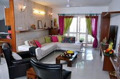 Juhi, Jayant and Aksh's Beautiful Bangalore | Apartment Therapy Indian Home Interior, Indian Home Decor, Home Decor Mirrors, Home Decor Furniture, Vintage Furniture, Painted Furniture, Living Room Designs, Living Room Decor, Indian Living Rooms