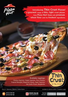 Introducing Thin Crust Pizzas from Pizza Hut!