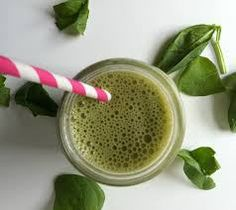 Green Energy Booster with #spinach, #banana, #kiwi, #goji berries, #almond milk, #celery and #parsley