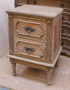Chateau Reclaimed 2 Drawer Bedside Table- THIS FURNITURE SITE IS A BIG TEASE, AS IT'S OVERSEAS (FROM THE USA). WHAT A DISAPPOINTMENT, BECAUSE THEY HAVE GORGEOUS USED STUFF!