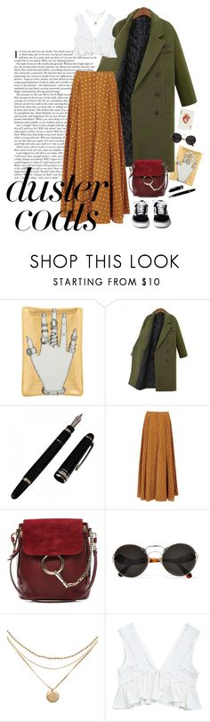 """""""#dustercoats"""" by martaveira ❤ liked on Polyvore featuring Fornasetti, Diane Von Furstenberg, Chloé and Prada"""