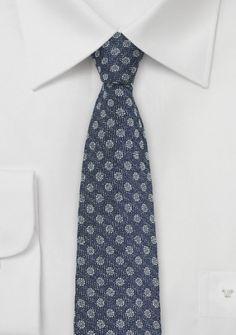Krawatte Seide Woll-Stil navyblau