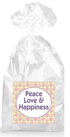 Peace Love and Happiness Party Favor Bags with Ties - 12pack * Check this awesome product by going to the link at the image.