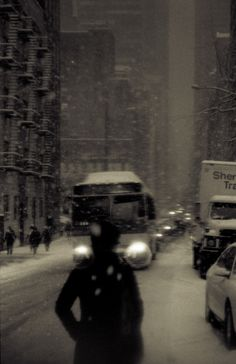 New York Snowstorm by Kevin Bauman, via Behance