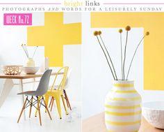 Photography by Trine Thorsen | Styling by Kirsten Visdal | Vartnya Hem http://www.vartnyahem.se/hem/artiklar/2010-06/Sommar_och_solgult_h%C3%B6jer_niv%C3%A5n_och_%C3%B6kar_intensiteten
