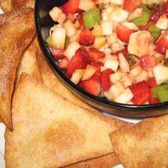 Fruit Salsa with Cinnamon Tortilla Chips Allrecipes.com