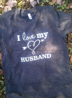 A Valentines must have I Love My Husband Tri-blend Tee Custom printed by SmartyPantsBoutique on Etsy