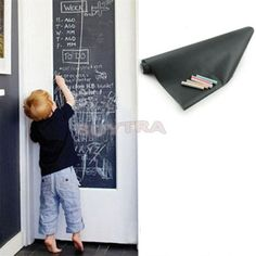 Chalk Board Blackboard Stickers Removable Vinyl Draw Decor Mural Decals Art Chalkboard Wall Sticker For Kids Rooms 45CMx200CM. Yesterday's price: US $5.95 (4.91 EUR). Today's price: US $5.00 (4.12 EUR). Discount: 16%.