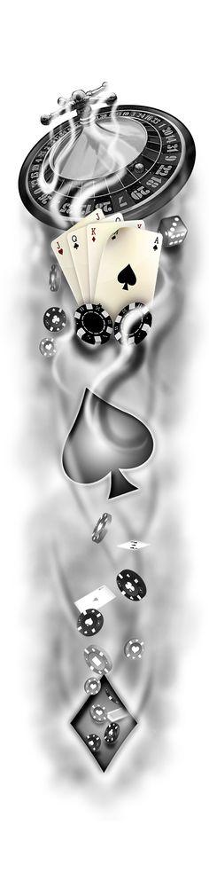 Casino эсизы tattoo designs, tattoo drawings і tattoo sketches. Chicano Tattoos, Arm Tattoos, Body Art Tattoos, Sleeve Tattoos, Cool Tattoos, Card Tattoo Designs, Design Tattoo, Tattoo Sketches, Tattoo Drawings