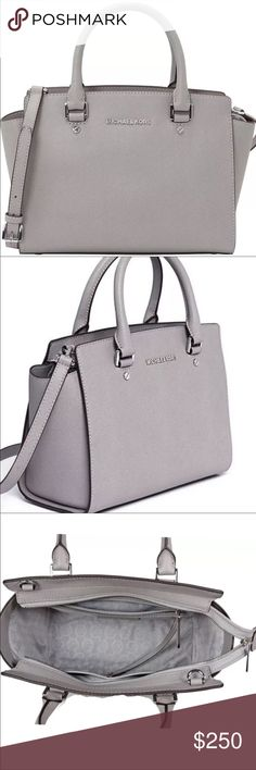 """Michael Kors Selma Medium NWOT - Get a handle on timeless style with our Selma satchel. Designed in Saffiano leather with signature hardware, it's the quintessential everyday bag. You'll wonder how you ever lived without it. DETAILS • 100% Leather  • Silver-Tone Hardware  • 13""""W X 8""""H X 4""""D  • Handle Drop: 4""""  • Adjustable Strap: 17.5""""-19.5""""  • Interior Details: Zip Pocket, 2 Open Pockets  • Lining: 100% Polyester  • Imported Michael Kors Bags Satchels"""