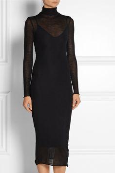 The Elder Statesman | Cashmere and silk-blend turtleneck dress | NET-A-PORTER.COM